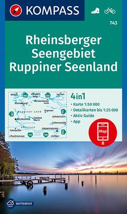 KOMPASS Wanderkarte Rheinsberger Seengebiet, Ruppiner Seenland von KOMPASS-Karten GmbH