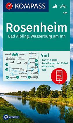 KOMPASS Wanderkarte Rosenheim, Bad Aibling, Wasserburg am Inn von KOMPASS-Karten GmbH