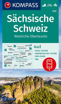 KOMPASS Wanderkarte Sächsische Schweiz, Westliche Oberlausitz von KOMPASS-Karten GmbH