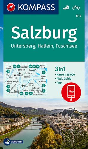 KOMPASS Wanderkarte Salzburg, Untersberg, Hallein, Fuschlsee von KOMPASS-Karten GmbH