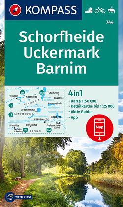 KOMPASS Wanderkarte Schorfheide, Uckermark, Barnim von KOMPASS-Karten GmbH