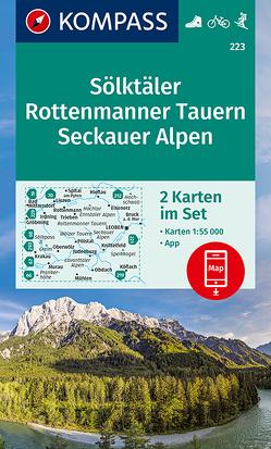 KOMPASS Wanderkarte Sölktäler, Rottenmanner Tauern, Seckauer Alpen von KOMPASS-Karten GmbH