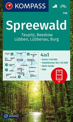 KOMPASS Wanderkarte Spreewald, Teupitz, Beeskow, Lübben, Lübbenau, Burg von KOMPASS-Karten GmbH