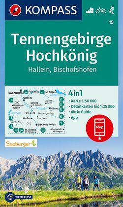 KOMPASS Wanderkarte Tennengebirge, Hochkönig, Hallein, Bischofshofen von KOMPASS-Karten GmbH
