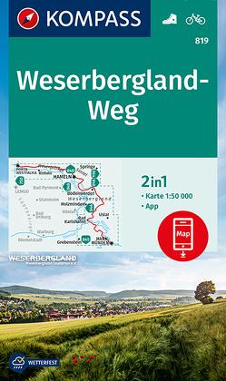 KOMPASS Wanderkarte Weserbergland-Weg von KOMPASS-Karten GmbH
