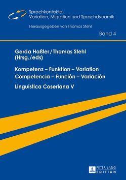 Kompetenz – Funktion – Variation / Competencia – Función – Variación von Hassler,  Gerda, Stehl,  Thomas