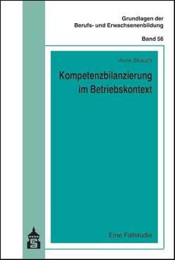 Kompetenzbilanzierung im Betriebskontext von Strauch,  Anne