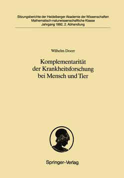 Komplementarität der Krankheitsforschung bei Mensch und Tier von Doerr,  Wilhelm
