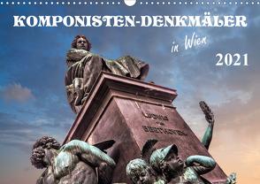 Komponisten-Denkmäler in Wien (Wandkalender 2021 DIN A3 quer) von Braun,  Werner