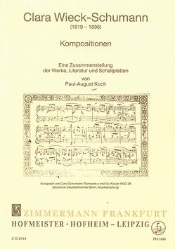 Kompositionen von Schumann,  Clara