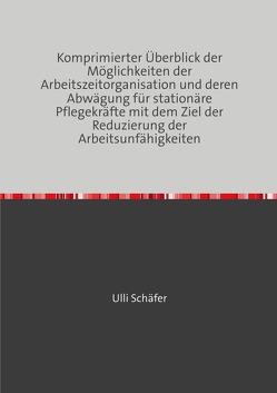 Komprimierter Überblick der Möglichkeiten der Arbeitszeitorganisation und deren Abwägung für stationäre Pflegekräfte mit dem Ziel der Reduzierung der Arbeitsunfähigkeiten von Schäfer,  Ulli