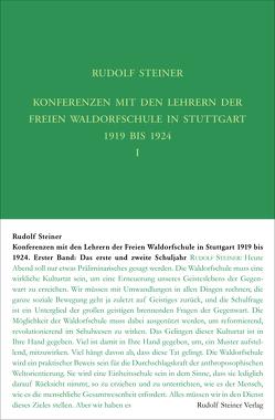 Konferenzen mit den Lehrern der Freien Waldorfschule 1919 bis 1924 von Leubin,  Andrea, Steiner,  Rudolf, Wiechert,  Christof
