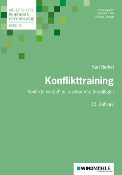 Konflikttraining von Berkel,  Karl, Crisand,  Nicolas, Raab,  Gerhard