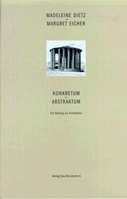 Konkretum – Abstraktum von Dietz,  Madeleine, Eicher,  Margret, Golinski,  Hans G