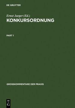 Konkursordnung von Henckel,  Wolfram, Jaeger,  Ernst