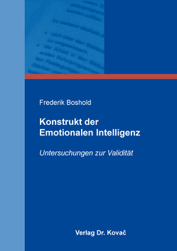 Konstrukt der Emotionalen Intelligenz von Boshold,  Frederik
