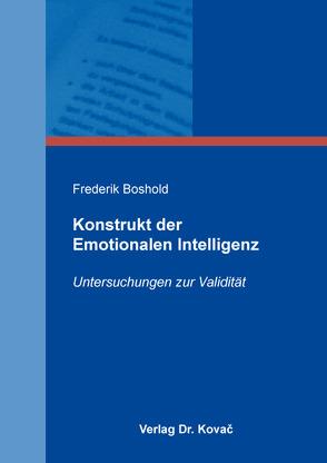 Konstrukt der Emotionalen Intelligenz von Boshold,  Frederik