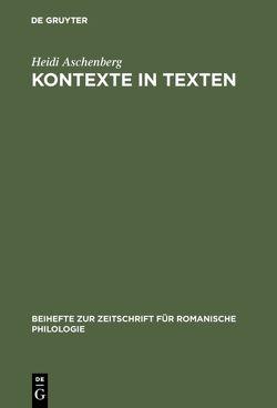 Kontexte in Texten von Aschenberg,  Heidi