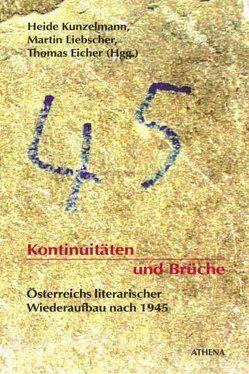 Kontinuitäten und Brüche von Eicher,  Thomas, Kunzelmann,  Heide, Liebscher,  Martin