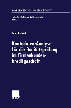 Kontodaten-Analyse für die Bonitätsprüfung im Firmenkundenkreditgeschäft von Berlandi,  Peter