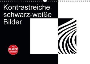 Kontrastreiche schwarz-weiße Bilder (Wandkalender 2018 DIN A3 quer) von Burlager,  Claudia