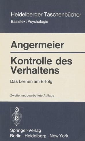 Kontrolle des Verhaltens von Angermeier,  Wilhelm F.