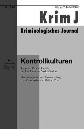 Kontrollkulturen von Hess,  Henner, Ostermeier,  Lars, Paul,  Bettina