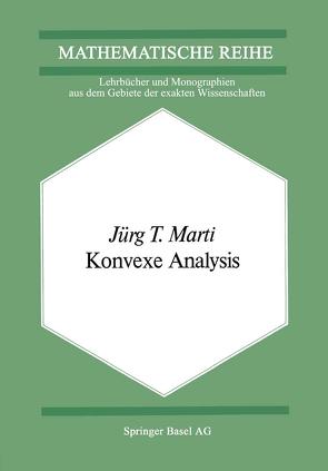 Konvexe Analysis von Marti,  J.T.