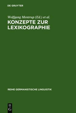 Konzepte zur Lexikographie von Lexikographisches Colloquium, Mentrup,  Wolfgang