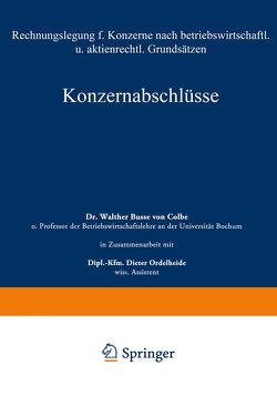 Konzernabschlüsse von Busse von Colbe,  Walther
