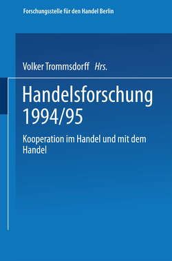 Kooperation im Handel und mit dem Handel von Trommsdorff,  Volker