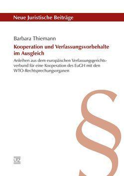 Kooperation und Verfassungsvorbehalte im Ausgleich von Thiemann,  Barbara