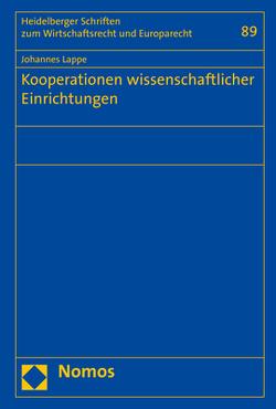 Kooperationen wissenschaftlicher Einrichtungen von Lappe,  Johannes