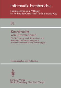 Koordination von Informationen von Kuhlen,  R.