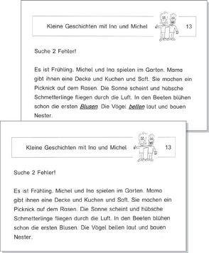 """Kopiervorlagen """"Fehler finden"""" (Ina und Michel) von Schmidt,  Torsten"""