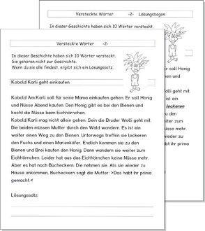 """Kopiervorlagen """"Versteckte Wörter"""" (Kobold Karli) von Schmidt,  Torsten"""