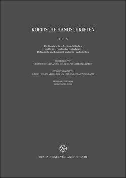 Koptische Handschriften von Behlmer,  Heike, Demiana,  Antonia St, Hegenbarth-Reichardt,  Ina, Horn,  Jürgen, Pietruschka,  Ute, Six,  Veronika