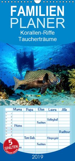 Korallen-Riffe Taucherträume – Familienplaner hoch (Wandkalender 2019 , 21 cm x 45 cm, hoch) von Caballero,  Sascha