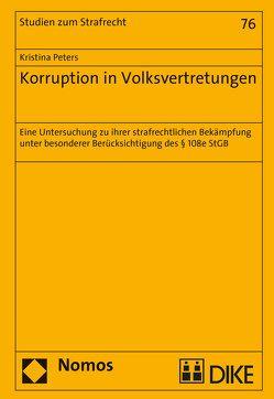 Korruption in Volksvertretungen von Peters,  Kristina