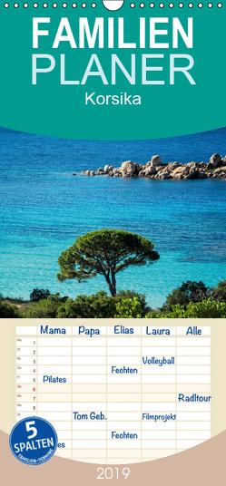 Korsika – Familienplaner hoch (Wandkalender 2019 , 21 cm x 45 cm, hoch) von und Holger Karius,  Kirsten