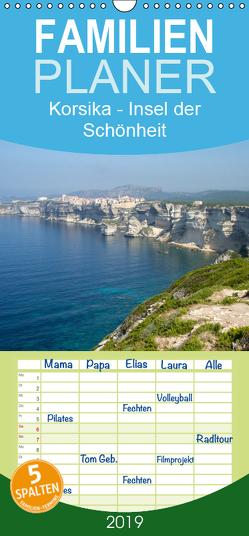 Korsika – Insel der Schönheit – Familienplaner hoch (Wandkalender 2019 , 21 cm x 45 cm, hoch) von Salzmann,  Ursula