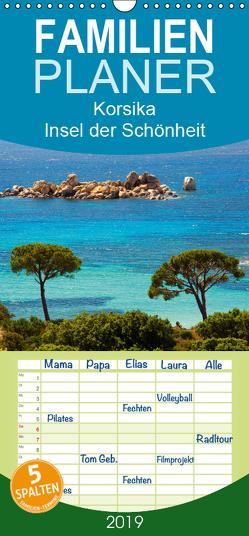 Korsika Insel der Schönheit – Familienplaner hoch (Wandkalender 2019 , 21 cm x 45 cm, hoch) von Scholz,  Frauke