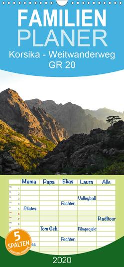 Korsika – Weitwanderweg GR 20 – Familienplaner hoch (Wandkalender 2020 , 21 cm x 45 cm, hoch) von Vogel,  Carmen