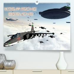 Kosmische BesucheCH-Version (Premium, hochwertiger DIN A2 Wandkalender 2021, Kunstdruck in Hochglanz) von Schröder,  Karsten
