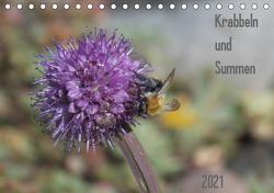 Krabbeln und Summen (Tischkalender 2021 DIN A5 quer) von Mahrhofer,  Verena