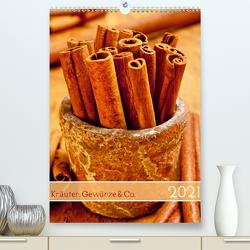 Kräuter, Gewürze & Co. 2021 (Premium, hochwertiger DIN A2 Wandkalender 2021, Kunstdruck in Hochglanz) von Kerpa,  Ralph