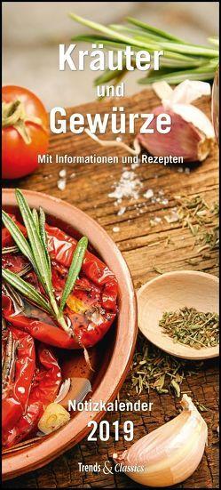 Kräuter & Gewürze Notizkalender 2019 – Wandkalender – mit Extraspalte für Geburtstage – Format 22 x 49 cm von DUMONT Kalenderverlag, Grothe,  Bärbel