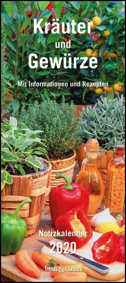 Kräuter & Gewürze Notizkalender 2020 – Wandkalender – mit Extraspalte für Geburtstage – Format 22 x 49 cm von DUMONT Kalenderverlag, Grothe,  Bärbel