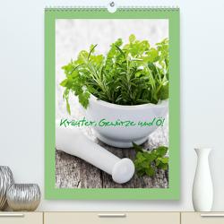 Kräuter, Gewürze und Öl (Premium, hochwertiger DIN A2 Wandkalender 2021, Kunstdruck in Hochglanz) von Gissemann,  Corinna