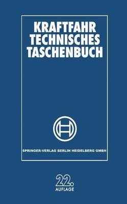 Kraftfahr Technisches Taschenbuch von Robert Bosch GmbH